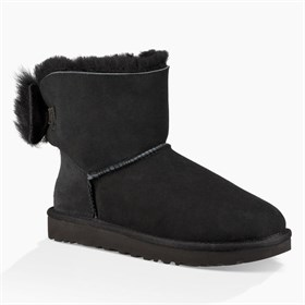 1094967	W Fluff Bow Mini UGG Black
