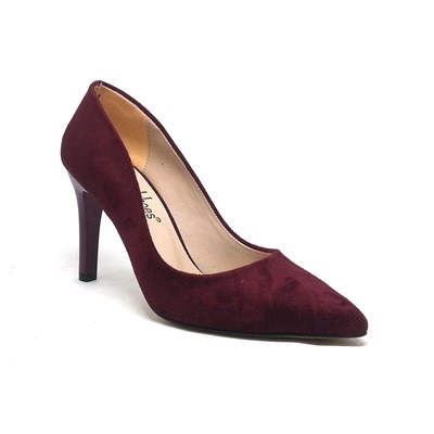 194-150785 Bayan Stiletto Bordo Süet